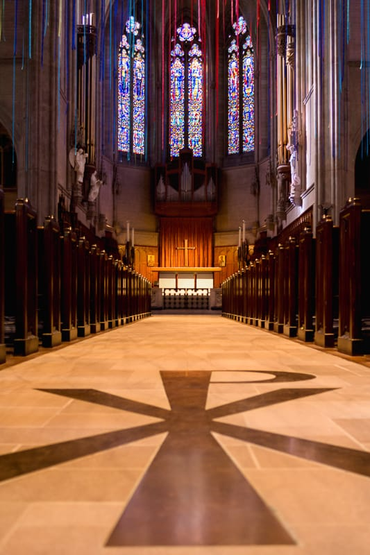 Graced With Light installation in Grace Cathedral, San Francisco