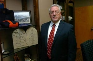 Dr. Aguillard in his office