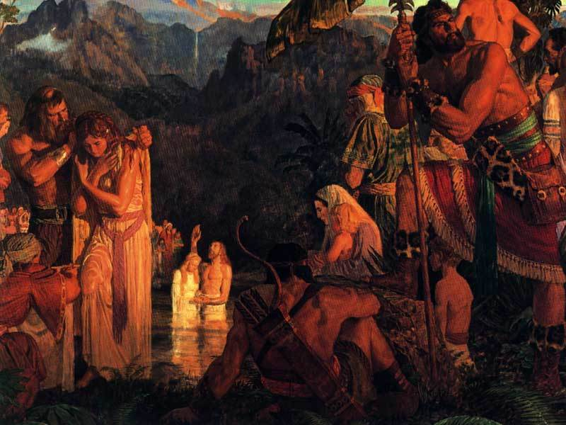 Alma Baptizing in the Waters of Mormon by Arnold Friberg